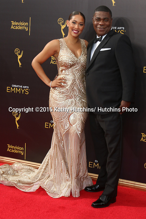 LOS ANGELES - SEP 10:  Megan Wollover, Tracy Morgan at the 2016 Creative Arts Emmy Awards - Day 1 - Arrivals at the Microsoft Theater on September 10, 2016 in Los Angeles, CA