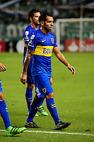 PALMIRA -COLOMBIA-24-02-2016. Carlos Tevez jugador de Boca abandona el campo de juegop en el intermedio del encuentro entre Deportivo Cali (COL) y Boca Juniors (ARG) por la fecha 1, G3, de la Copa Bridgestone Libertadores 2016 jugado en el estadio Palmaseca de la ciudad de Palmira./ Carlos Tevez player of Boca leaves the field at halftime of the match between Deportivo Cali (COL) and Boca Juniors (ARG) for the date 1, G3, of the Copa Bridgestone Libertadores 2016 played at Palmaseca stadium in Palmira city.  Photo: VizzorImage/ NR /Cont