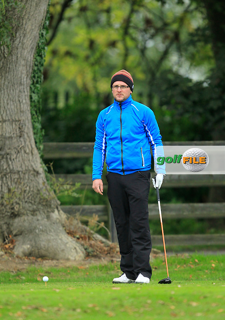 Glen Robinson (St. Helen's Bay Golf Resort) on the 1st during Round 3 of The Cassidy Golf 103rd Irish PGA Championship in Roganstown Golf Club on Saturday 12th October 2013.<br /> Picture:  Thos Caffrey / www.golffile.ie