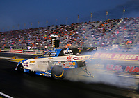 Sep 2, 2017; Clermont, IN, USA; NHRA funny car driver John Force during qualifying for the US Nationals at Lucas Oil Raceway. Mandatory Credit: Mark J. Rebilas-USA TODAY Sports