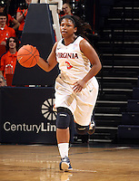 Dec. 18, 2010; Charlottesville, VA, USA; Virginia Cavaliers guard Paulisha Kellum (3) handles the ball during the game against the UMBC Retrievers at the John Paul Jones Arena. Virginia won 61-46. Mandatory Credit: Andrew Shurtleff-