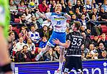 Zieker, Patrick (TVB Stuttgart #25) / Nikola Bilyk, (THW Kiel #53) / TVB 1898 Stuttgart - THW Kiel / DHB Pokal Viertelfinale / HBL / 1.Handball-Bundesliga / SCHARRrena / Stuttgart Baden-Wuerttemberg / Deutschland beim Spiel im DHB Pokal Viertelfinale, TVB 1898 Stuttgart - THW Kiel.<br /> <br /> Foto © PIX-Sportfotos *** Foto ist honorarpflichtig! *** Auf Anfrage in hoeherer Qualitaet/Aufloesung. Belegexemplar erbeten. Veroeffentlichung ausschliesslich fuer journalistisch-publizistische Zwecke. For editorial use only.