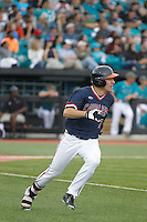 University of Virginia Cavaliers outfielder Adam Haseley (7) at bat during a game against the University of Coastal Carolina Chanticleers at Springs Brooks Stadium on February 21, 2016 in Conway, South Carolina. Coastal Carolina defeated Virginia 5-4. (Robert Gurganus/Four Seam Images)