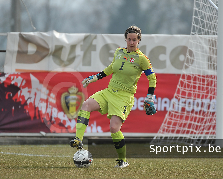 Switzerland U19 - Russia U19 : Switzerland goalkeeper .Nadine Böni (GK) (C).foto DAVID CATRY / Nikonpro.be