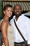 "Actor Romany Malco and Taryn Takha arrive at the Premiere of Columbia Pictures' ""Step Brothers"" at the Mann Village Theater on July 15, 2008 in Los Angeles, California."