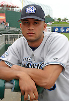 August 31, 2003:  Juan Gonzalez of the West Michigan White Caps, Class-A affiliate of the Detroit Tigers, during a Midwest League game at Oldsmobile Park in Lansing, MI.  Photo by:  Mike Janes/Four Seam Images