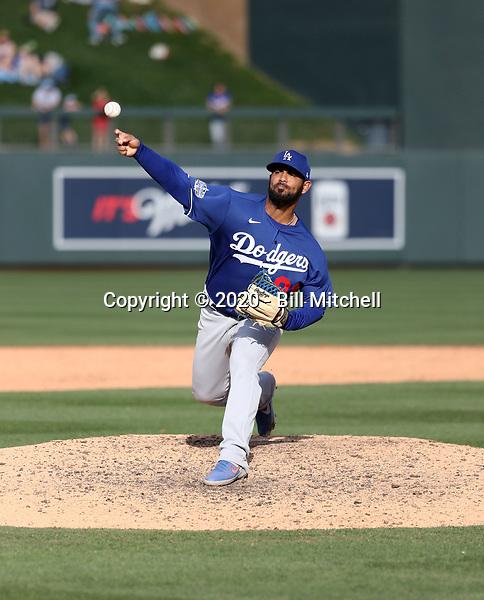Anthony Vizcaya - Los Angeles Dodgers 2020 spring training (Bill Mitchell)