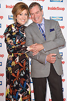 Charlotte Bellamy and John Middleton<br /> at the Inside Soap Awards 2016 held at the Hippodrome Leicester Square, London.<br /> <br /> <br /> ©Ash Knotek  D3157  03/10/2016