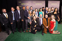 VANCOUVER, BC - OCTOBER 22: Cast And Cew of Arrow and The Flash at the 100th episode celebration for tv's Arrow at the Fairmont Pacific Rim Hotel in Vancouver, British Columbia on October 22, 2016. Credit: Michael Sean Lee/MediaPunch