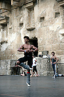 Carlos Acosta in class at the Aspendos Theatre, Antalya, Turkey