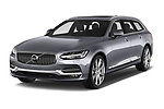 2018 Volvo V90 Inscription 5 Door Wagon Angular Front stock photos of front three quarter view