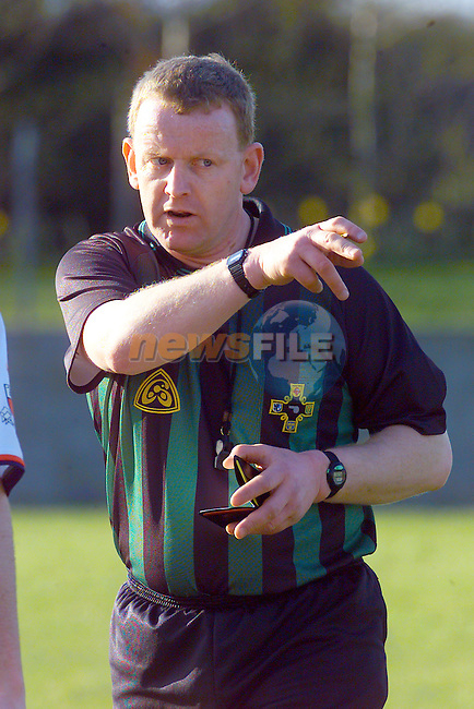 Referee P.O'Reilly during the Louth V Dublin U/21 Match in Ardee.Photo Fran Caffrey/Newsfile.ie..This picture has been sent to you by:.Newsfile Ltd,.3 The View,.Millmount Abbey,.Drogheda,.Co Meath..Ireland..Tel: +353-41-9871240.Fax: +353-41-9871260.GSM: +353-86-2500958.ISDN: +353-41-9871010.IP: 193.120.102.198.www.newsfile.ie..email: pictures@newsfile.ie..This picture has been sent by Fran Caffrey.francaffrey@newsfile.ie