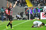 06.10.2019, Commerzbankarena, Frankfurt, GER, 1. FBL, Eintracht Frankfurt vs. SV Werder Bremen, <br /> <br /> DFL REGULATIONS PROHIBIT ANY USE OF PHOTOGRAPHS AS IMAGE SEQUENCES AND/OR QUASI-VIDEO.<br /> <br /> im Bild: Leonardo Bittencourt (SV Werder Bremen #10) gegen Martin Hinteregger (Eintracht Frankfurt #13)<br /> <br /> Foto © nordphoto / Fabisch