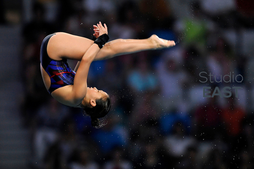 USA's Haley Ishimatsu dives during the women's 10 m platform diving competition, in Beijing Olympics, on August 20, 2008, in Beijing, China. Photo by Lucas Schifres/Pictobank/Cameleon/ABACAPRESS.COM