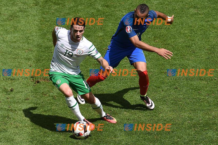 dimitri payet (france) vs robbie brady (eire) <br /> Lyon 26-06-2016 Stade de Lyon Football Euro2016 France - Ireland / Francia - Irlanda Round of 16. Foto Frederic Chambert / Panoramic / Insidefoto