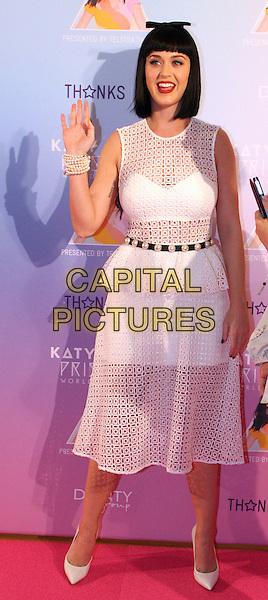 SYDNEY, AUSTRALIA - MARCH 04: Katy Perry poses for media at Telstra HQ, George Street on March 4, 2014 in Sydney, Australia. <br /> CAP/MPI/RTN/RIN<br /> &copy;RTNRinaldi/MediaPunch/Capital Pictures
