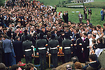Hunger striker Martin Hurson funeral 1981 Galbally, County Tyrone  Northern Ireland .