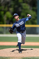 Tampa Bay Rays pitcher Kyle Bird (78) during a minor league spring training game against the Baltimore Orioles on April 3, 2015 at the Buck O'Neil Complex in Sarasota, Florida.  (Mike Janes/Four Seam Images)