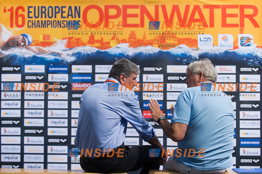 BIRRI Marco LEN<br /> Hoorn, Netherlands <br /> LEN 2016 European Open Water Swimming Championships <br /> Open Water Swimming<br /> Women's 5km<br /> Day 02 12-07-2016<br /> Photo Giorgio Perottino/Deepbluemedia/Insidefoto