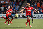 Martyn Waghorn celebrates his second penalty goal