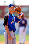 15 March 2006: Jeff Keppinger, infielder for the New York Mets, looks back to the dugout during a Spring Training game against the Washington Nationals. The Mets defeated the Nationals 8-5 at Space Coast Stadium, in Viera, Florida...Mandatory Photo Credit: Ed Wolfstein..
