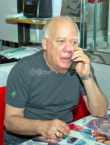 Jeffrey N. Gildenhorn, owner of the American City Diner, 5532 Connecticut Ave, NW; Washington, DC 20015 speaks on his cell phone at the diner in Washington, DC on Tuesday, August 11, 2015.<br /> Credit: Ron Sachs / CNP/MediaPunch<br /> (RESTRICTION: NO New York or New Jersey Newspapers or newspapers within a 75 mile radius of New York City)