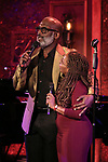 "BeBe Winans and Stephanie Mills on stage during a Song preview performance of the BeBe Winans Broadway Bound Musical ""Born For This"" at Feinstein's 54 Below on November 5, 2018 in New York City."