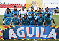 MONTERÍA - COLOMBIA ,28-04-2019: Formación  de Jaguares de Córdoba ante el Atlético Bucaramanga durante partido por la fecha 18 de la Liga Águila I 2019 jugado en el estadio Municipal Jaraguay de Montería . / Team  of Jaguares of Cordoba agaisnt  of Atletico Bucaramanga during the match for the date 18 of the Liga Aguila I 2019 played at Municipal Jaraguay Satdium in Monteria City . Photo: VizzorImage / Andrés Felipe López  / Contribuidor.