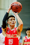 Ng Ka Hin #15 of Nam Ching Basketball Team concentrates prior to a free throw during the Hong Kong Basketball League game between SCAA and Nam Ching at Southorn Stadium on May 4, 2018 in Hong Kong. Photo by Yu Chun Christopher Wong / Power Sport Images