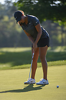 Cheyenne Woods (USA) watches her putt on 2 during round 1 of the 2018 KPMG Women's PGA Championship, Kemper Lakes Golf Club, at Kildeer, Illinois, USA. 6/28/2018.<br /> Picture: Golffile | Ken Murray<br /> <br /> All photo usage must carry mandatory copyright credit (&copy; Golffile | Ken Murray)