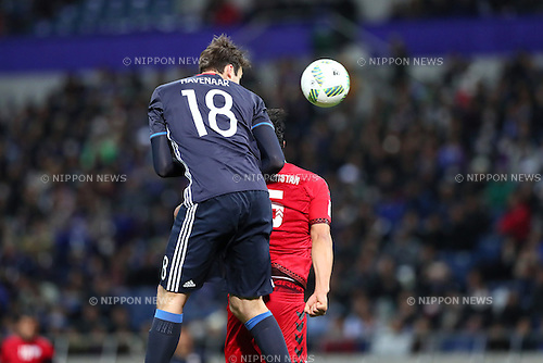 Mike Havenaar (JPN), <br /> MARCH 24, 2016 - Football / Soccer : <br /> FIFA World Cup Russia 2018 Asian Qualifier Second Round Group E match between<br /> Japan 5-0 Afghanistan <br /> at Saitama Stadium 2002 in Saitama, Japan.<br /> (Photo by Yohei Osada/AFLO SPORT)
