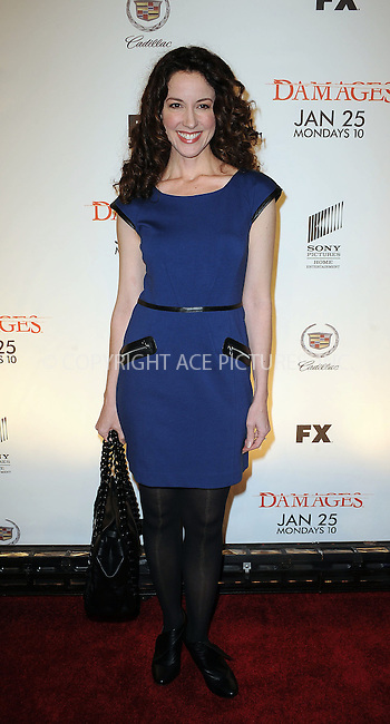 WWW.ACEPIXS.COM . . . . . ....January 19 2010, New York City....Actress Jennifer Roszell arriving at the Season 3 premiere of 'Damages' at the AXA Equitable Center on January 19, 2010 in New York City.....Please byline: KRISTIN CALLAHAN - ACEPIXS.COM.. . . . . . ..Ace Pictures, Inc:  ..tel: (212) 243 8787 or (646) 769 0430..e-mail: info@acepixs.com..web: http://www.acepixs.com