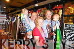 Turner's Bar, Tralee, celebrating 38 years in business. Pictured behind the bar in Turners were: Jerry and Carmel Turner, with son Aidan and grandchildren Amy and AJ.
