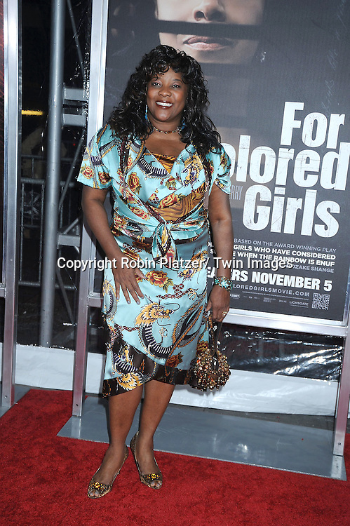"Loretta Devine attending The New York Special Screening.of ""For Colored Girls"" at The Ziegfeld Theatre on October 25, 2010 in New York City"