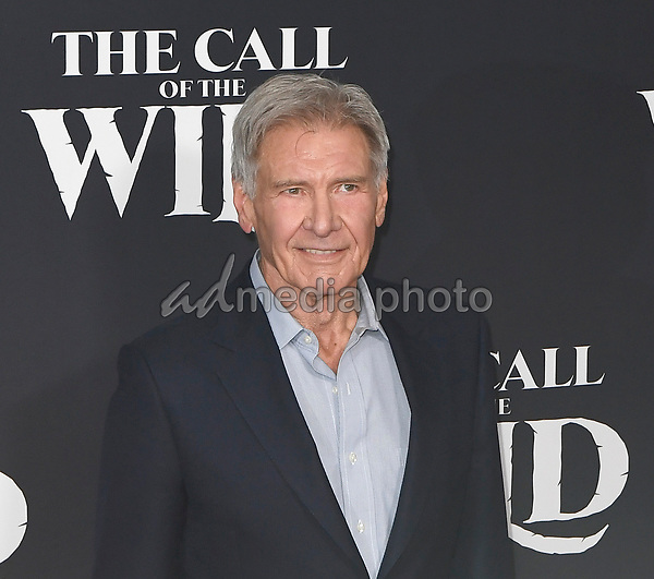 """13 February 2020 - Hollywood, California - Harrison Ford. """"The Call of the Wild"""" Twentieth Century Studios World Premiere held at El Capitan Theater. Photo Credit: Dave Safley/AdMedia"""