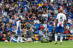Real Sociedad's Mikel Merino, Mikel Oyarzabal and RCD Espanyol's Naldo Gomes during La Liga match. May, 18th,2019. (ALTERPHOTOS/Alconada)
