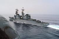 - US destroyer Moosbrugger during NATO exercises in Mediterranean sea<br /> <br /> - cacciatorpediniere USA Moosbrugger durante esercitazioni NATO nel mar Mediterraneo