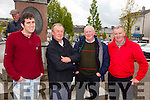 Mark Burke(Lahinch) with Mike, Dan and Jim O'Donnell(Abbeyfeale) pictured on Sunday in the square.