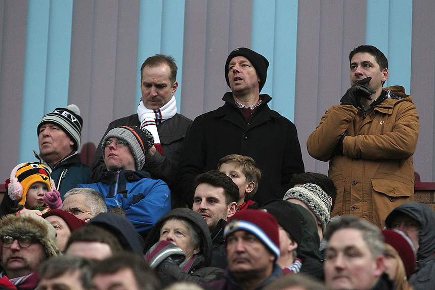 Burnley fans watch as their side slip to a 1 - 0  defeat<br /> <br /> Photographer Rich Linley/CameraSport<br /> <br /> Football - Barclays Premiership - Burnley v Swansea City - Friday 27th February 2015 - Turf Moor - Burnley<br /> <br /> &copy; CameraSport - 43 Linden Ave. Countesthorpe. Leicester. England. LE8 5PG - Tel: +44 (0) 116 277 4147 - admin@camerasport.com - www.camerasport.com
