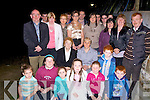 The family of the late Pat Sweeney pictured at the unveiling of the plaque in his honor in Athea on Friday night. In front, Joanne Histon, Aisling Dalton, Ciara Sweeney, Becky Dalton, Cian sweeney and Conor Sweeney.  Seated are margaret Sweeney (mother and Anna Mai wife of the late pat sweeney) Middle l-r Eamonn Sweeney, Aine Sweeney,  Breda Fitzgerald and John Sweeney.   back l-r Peg sweeney, Joune Sweeney, Mairead Noonan, Jonathan Sweeney, Patrick Quinn, Gene and Pascal Sweeney, Patrick Sweeney, Jonathan Sweeney, Darragh Sweeney, Patrick Sweeney Jnr. and Shauna Sweeney   Copyright Kerry's Eye 2008