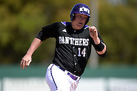 Kentucky Wesleyan Panthers first baseman Mark Hagedorn (14) during a game against Slippery Rock University at Jack Russell Stadium on March 14, 2014 in Clearwater, Florida.  Slippery Rock defeated 18-13.  (Mike Janes/Four Seam Images)