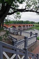 Brücke über die Venta in Kuldiga, Lettland, Europa