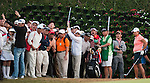 TAOYUAN, TAIWAN - OCTOBER 22: Taiwan supporters watch Yani Tseng' shot on the 17th hole during day three of the LPGA Imperial Springs Taiwan Championship at Sunrise Golf Course on October 22, 2011 in Taoyuan, Taiwan. Photo by Victor Fraile / The Power of Sport Images