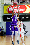 Eric Javarin Ferguson #3 of HKPA tries to score against the Nam Ching during the Hong Kong Basketball League game between Nam Ching and  HKPA at Southorn Stadium on June 12, 2018 in Hong Kong. Photo by Yu Chun Christopher Wong / Power Sport Images