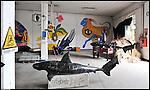 Lavori di trasformazione negli spazi interni di Bunker, il nuovo progetto di Urbe nell'ex stabilimento SICMA Torino. Settembre 2012
