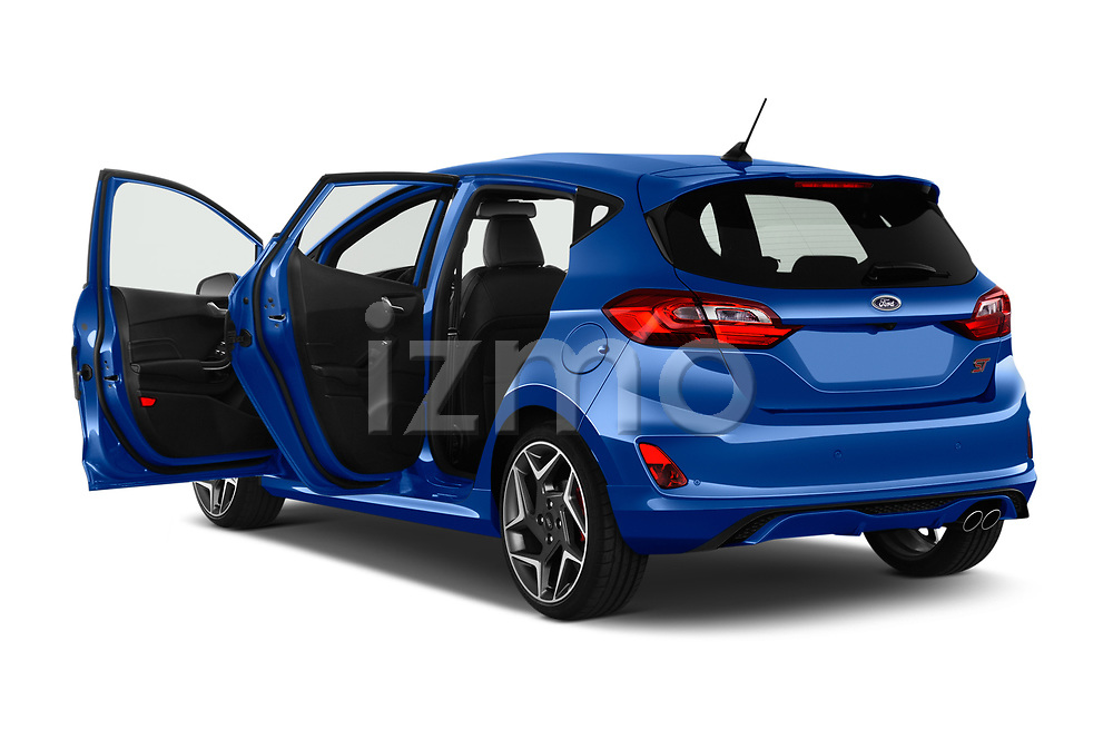 Car images close up view of a 2018 Ford fiesta st Ultimate 5 Door Hatchback doors