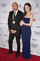 NEW YORK, NY - NOVEMBER 19: Tony Ayres and Melissa George at the 40th International Emmy Awards in New York. November 19, 2012. © Diego Corredor/MediaPunch Inc. /NortePhoto