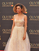 Sophie Okonedo at the Olivier Awards 2019, Royal Albert Hall, Kensington Gore, London, England, UK, on Sunday 07th April 2019.<br /> CAP/CAN<br /> ©CAN/Capital Pictures