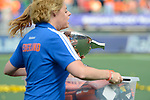 The Hague, Netherlands, June 14: Eva de Goede #24 of The Netherlands holds the World Cup Trophy after the field hockey gold medal match (Women) between Australia and The Netherlands on June 14, 2014 during the World Cup 2014 at Kyocera Stadium in The Hague, Netherlands. Final score 2-0 (2-0)  (Photo by Dirk Markgraf / www.265-images.com) *** Local caption ***
