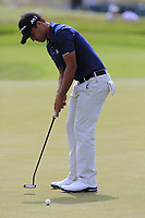 Xander Schauffele (USA) putts on the 8th green during Saturday's Round 3 of the 117th U.S. Open Championship 2017 held at Erin Hills, Erin, Wisconsin, USA. 17th June 2017.<br /> Picture: Eoin Clarke | Golffile<br /> <br /> <br /> All photos usage must carry mandatory copyright credit (&copy; Golffile | Eoin Clarke)